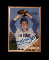 Barney Schultz Signed 1962 Topps Chicago Cubs Autograph