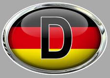 """Sticker """" D """"  GERMANY AUTO 120mm x 80mm"""
