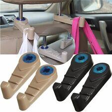 2Pcs Universal Van Car Seat Headrest Hanger Hook Luggage Purse Bag Holder Antisk