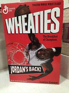 Wheaties Michael Jordan -  He's Back 18 oz Cereal Box Unopened / Sealed 1995