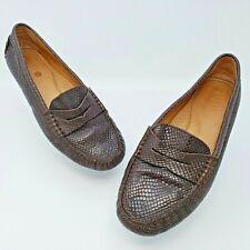 Lauren Ralph Lauren Camila Glossy Snake Penny Loafer Driving Shoes Size 8.5B