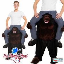 Divertido Disfraz De Gorila De Compartimento me lleve Animales Mono Vestido de fantasía Traje AF014