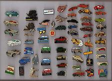 Lot + de 60 pin's - thème voiture (porsche, renault, skoda, peugeot, mustang...)