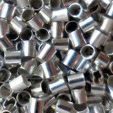 """Lot de 100 Perles à Écraser TUBES  """"ARGENTÉ CLAIR""""  environ Ø 1,5/2 mm"""