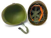 Nice Original Vietnam War U.S. Army Rear Seam M1 Helmet w/ Chinstrap & Liner