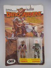 Dino Riders Figuren Termite & Gunner in OVP GiG 1983 (1689)
