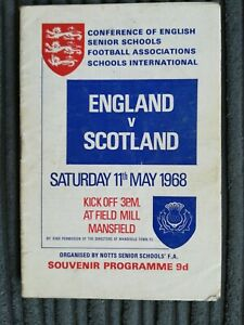 67/8 England vs Scotland (School's International) @ Mansfield