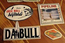 Vintage Greg Noll / Endless Summer vinyl 1980's Surfing Sticker - Lot of 4