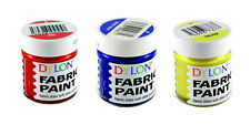 DYLON Fabric Paint Set - Primary Colour Mixing Set - 3 x 25ml