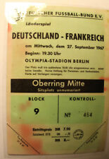 Ticket for collectors * West Germany - France 1967 in Berlin