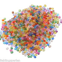 1500 Mix Acryl Böhmen Facettiert Rund Spacer Perlen Beads Bicone Rhombe 6mm