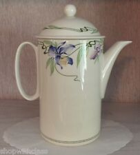 Villeroy & Boch Verona Coffee Pot w/ Lid Blue Purple Iris Fleur de Lis Lys SAVE