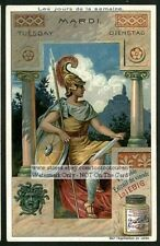 Day Of The Week Tuesday Mardi Dienstag c1905 Trade Ad Card