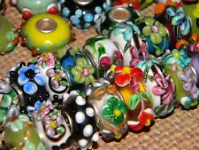 NEW Lampwork Murano Glass 5/pcs MIXED Random Picked Charms, European Beads LOT