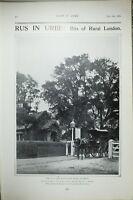1903 PRINT RURAL LONDON TOLL GATE IN COLLEGE ROAD DULWICH