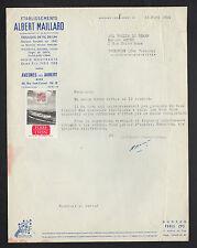 """AVESNES (59) TISSAGE de FIL DE LIN """"Albert MAILLARD"""" Timbre Vignette LYON 1955"""