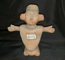 New ListingAztec, Inca, Maya Figurine, Wearing Poncho, Outstretched Arms, Terracotta