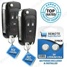 Replacement for Chevy 2010-2016 Camaro Cruze Equinox Malibu Remote Key Fob Pair