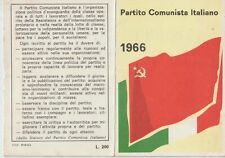 ITALY 1966 IDENTITY CARD, ITALIAN COMMUNIST PARTY. GROSSETO SIGNED LONGO