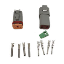 Deutsch 1 sets Kit DT 4 Pin Waterproof Electrical Wire Connector plug 22-16AWG