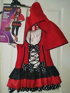 GIRLS SWEET LITTLE RED RIDING HOOD SPIRIT HALLOWEEN COSTUME DRESS UP SZ L 12-14