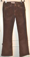 J & COMPANY BORN IN CALIFORNIA BROWN NEEDLECORD BOOTLEG JEANS SIZE 28 PREOWNED
