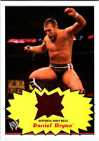 WWE Daniel Bryan 2012 Topps Heritage Authentic Event Worn Shirt Relic Card Brown