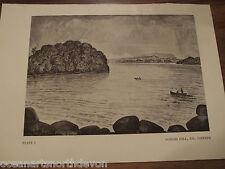 ANTIQUE PRINT 1936 LOUGH GILL, CO. LEITRIM FLY FISHING IRELAND SPORT VINTAGE ART