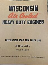 Wisconsin Air Cooled Engine Model Aenl Instruction Book Parts List Vg