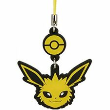 Pokemon Face Swing Strap Rubber Charm Tomy - Jolteon