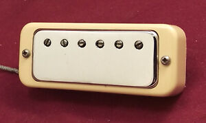 Vintage Gibson Mini Humbucker Pat. No. Stamped with Mounting Ring Plate Bracket