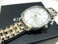 Coach Lady's Tatum Two-Tone Gold Silver Bracelet Slim Watch 14503013 NWT $275
