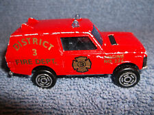 MAJORETTE ENGINE NO. 224 RANGE ROVER DISTRICT 3 FIRE DEPT. DIECAST FIRE TRUCK
