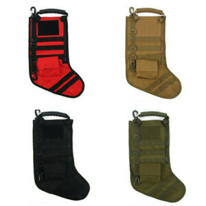 4x Outdoor Christmas Socks Storage Bags Christmas Gift Stockings Boots Pouch