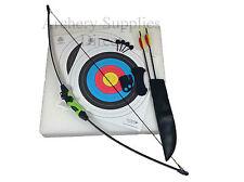 ASD Wildcat Kids Black & Green Recurve Archery Bow 18lb Package W/Target & Arrow