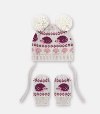 Cath Kidston Hedgehogs Baby Hat And Mittens Set