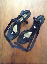 Women's Coloriffics Strappy Open-toe Sandal Heels Size 9M Black