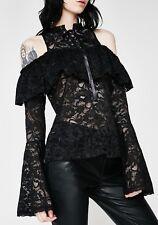 Killstar Dolls Kill Greta Maiden Blouse Gothic Lace Size XS