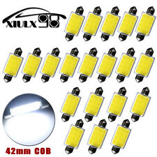 20Pcs White Festoon 42MM COB 3W Car Map Dome Interior LED Light Bulbs 578 569