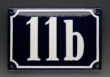 Emaux, E-Mail-numéro de maison 11b en bleu/blanc pour 1960