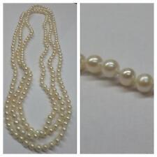 long collier de perles d'eau douce 145 cm sans fin