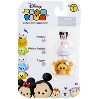 Disney Tsum Tsum Series 1 Mickey, White Rabbit & Tigger Minifigure 3-Pack NEW