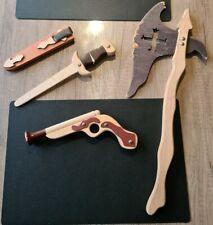 Holzspielzeug Pirat Axt Pistole Dolch