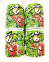 Lot Of 4 Kool Aid Sour Snappin' Green Apple Drink Mix 19 oz Canisters New
