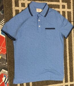 Brooks Brothers Red Fleece Men's Short Sleeve Polo Shirt Blue Color Size M