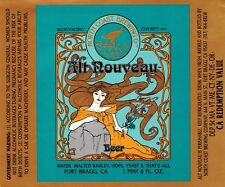 North Coast Brewing Co Alt Art Nouveau Altbier Beer Label CA 22 oz
