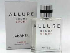 Chanel Allure Homme Sport Cologne Men's 100ml / 3.4oz Eau de Toilette Box NEW