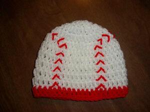 U CHOOSE SIZE! BASEBALL crochet baby hat MADE IN USA! newborn - toddler sports
