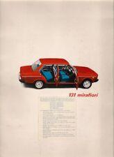 Fiat 131 Mirafiori 1975 UK Market Sales Brochure 1300 1600 Special Saloon Estate