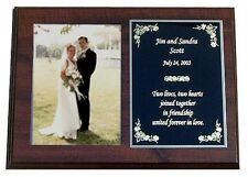 PERSONALIZED WEDDING / ANNIVERSARY PHOTO FRAME PLAQUE - GREAT GIFT